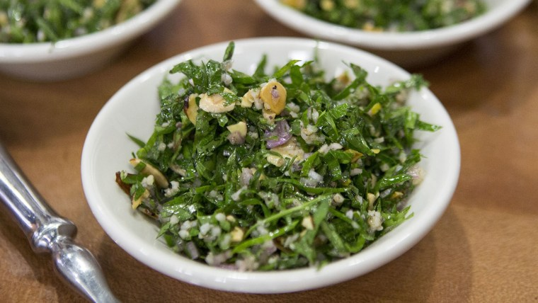 ALON SHAYA TABBOULEH: Alon Shaya's Tabbouleh with Preserved Lemon and Almonds