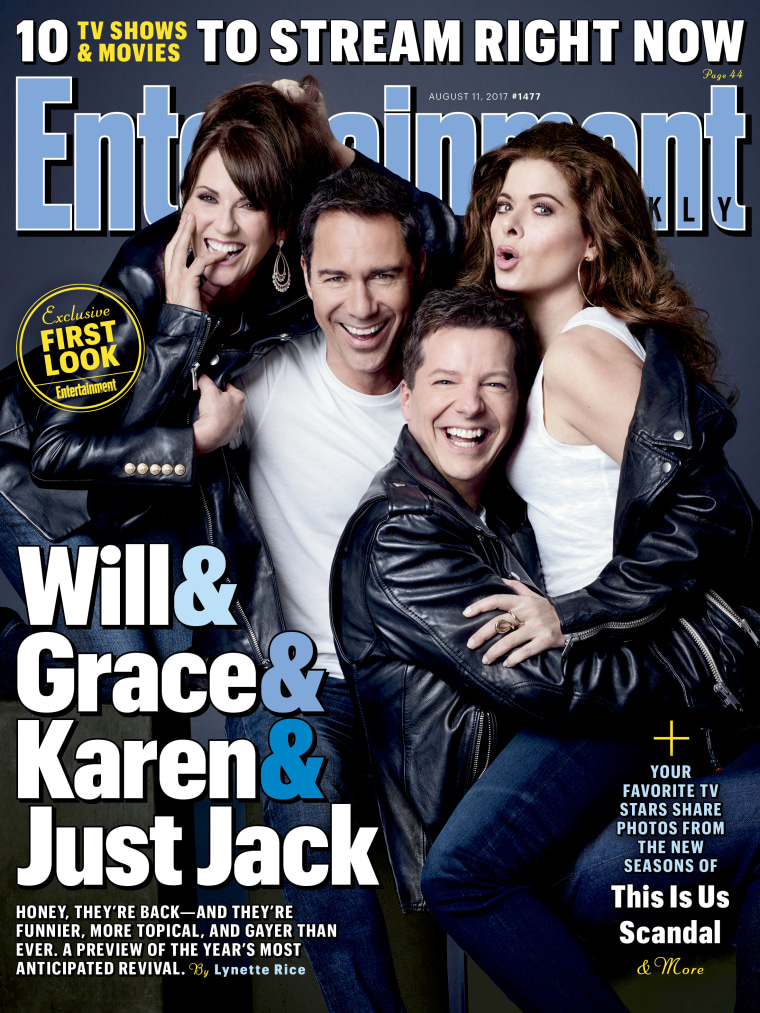 New cover of Entertainment Weekly, showing the cast of Will & Grace.