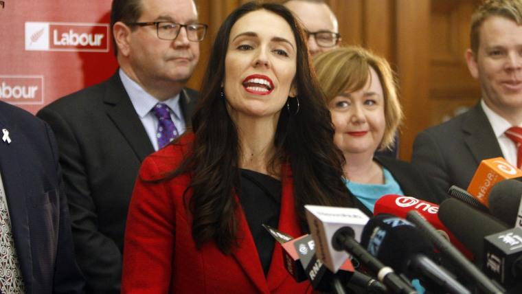 New Zealand Labour Party leader Jacinda Ardern