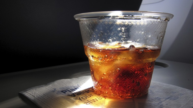 If you're thirsting for a Diet Coke on a plane, you better have some patience.