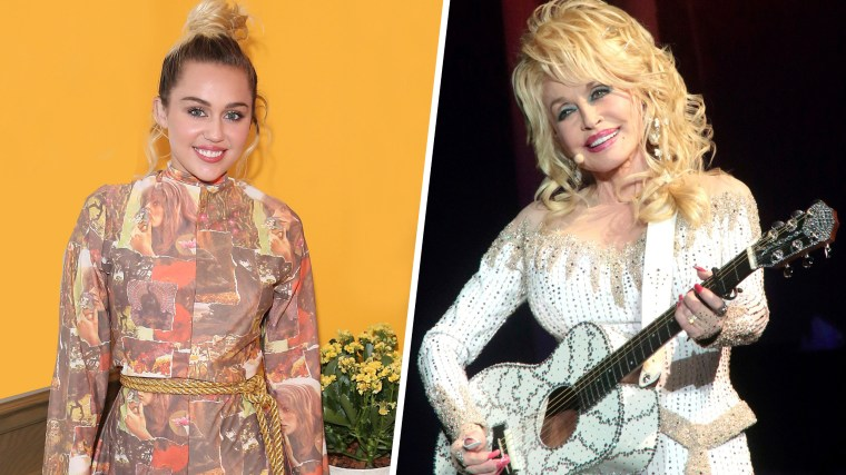 Miley Cyrus and her Cosmo comments about godmother Dolly Parton.