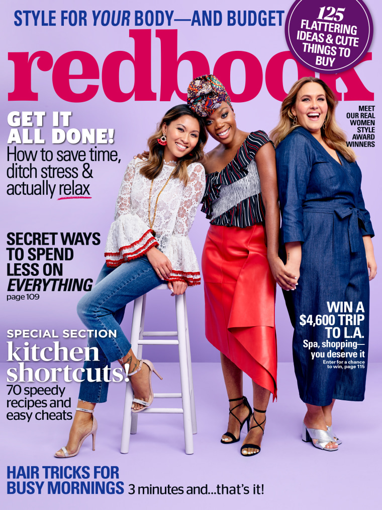 The women are featured on two separate covers of Redbook's September issue, available Aug. 8.