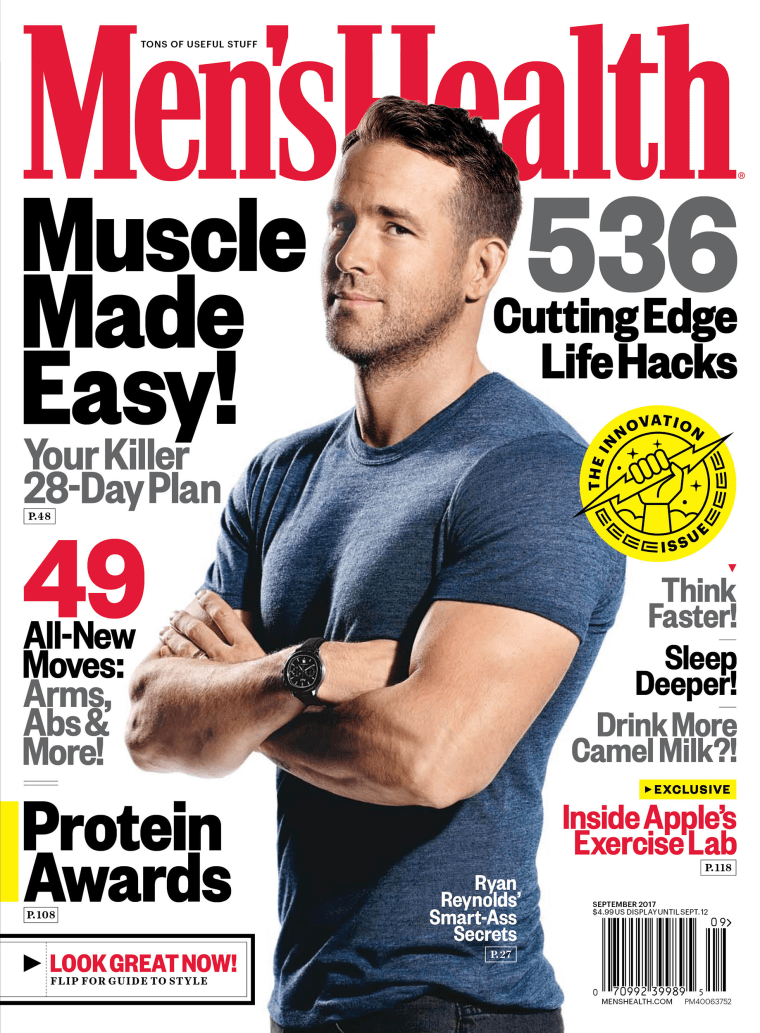 Ryan Reynolds in Men's Health