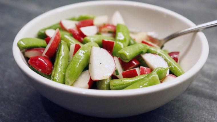 Sugar Snap Pea and Radish Salad