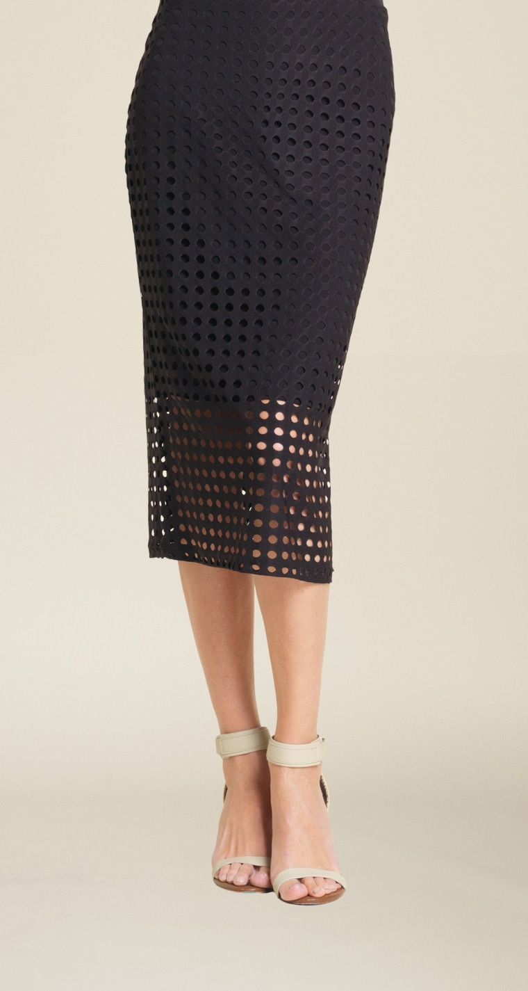 Perforated Knit Skirt