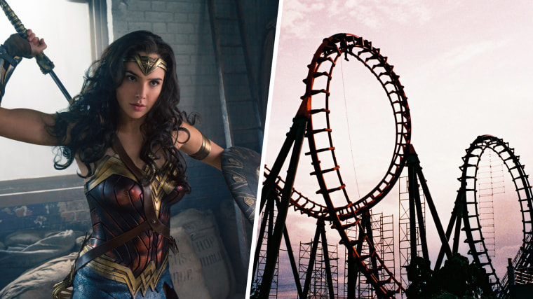Wonder Woman Roller Coaster at Six Flags!