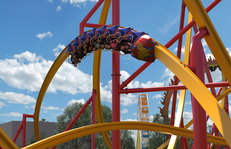 New Wonder Woman rollercoaster at Six Flags!