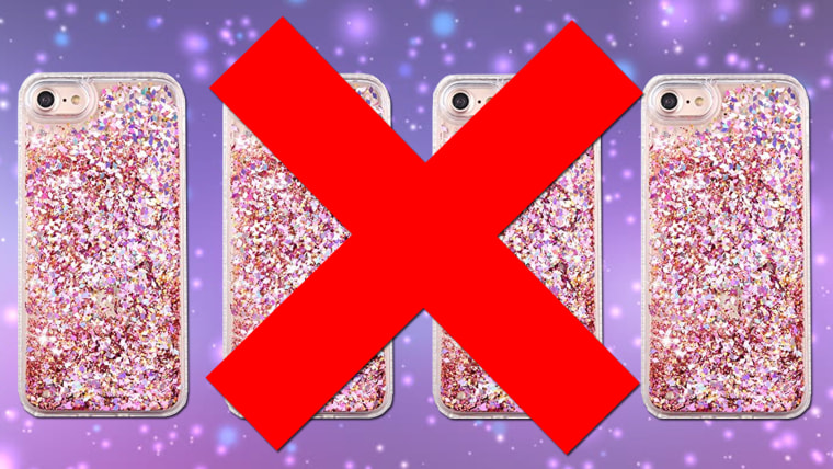 super popular 0feba 1a9e3 263,000 glitter iPhone cases recalled due to burns