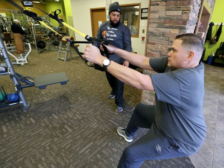 Working with a trainer has helped Lou Maldonado as he worked to lose 300 pounds.