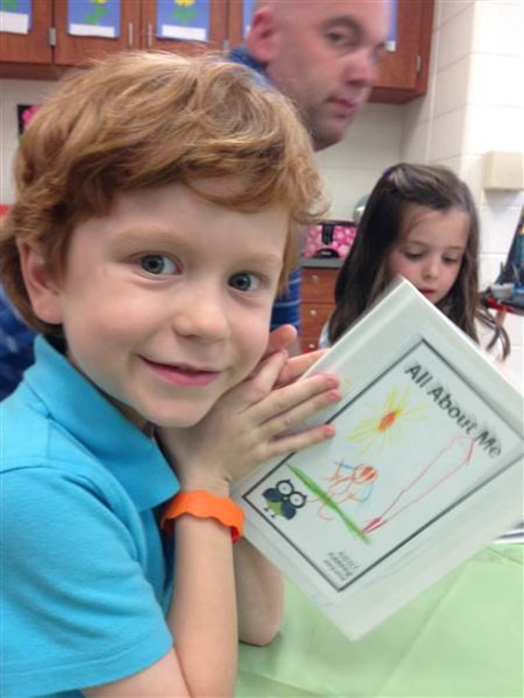 """""""I did it, Mom!"""" Daniel Lane at the end of his kindergarten school year."""