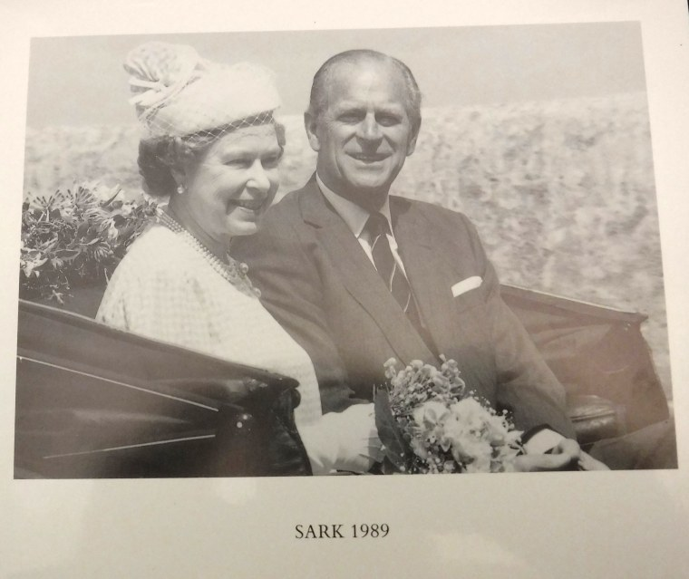 The Queen and Prince Philip are featured on their 1989 Christmas card.