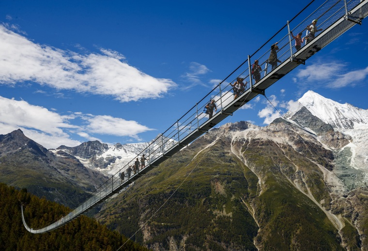 Image: World's longest pedestrian suspension bridge inaugurated