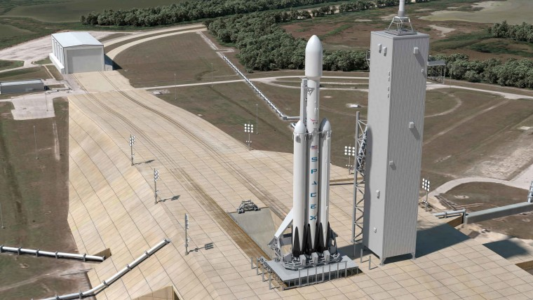 Falcon Heavy at Florida Launch Pad