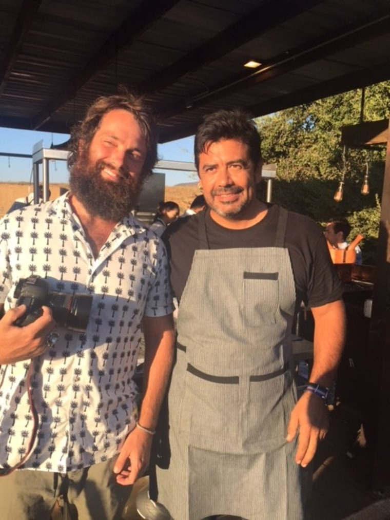 Image: Jamie Fritsch and Chef Javier Plascencia