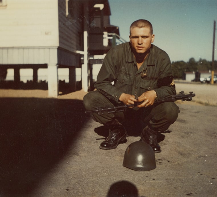 James McCloughan in 1968 at basic training.