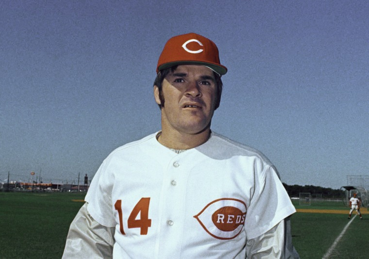 Pete Rose of the Cincinnati Reds in 1973.