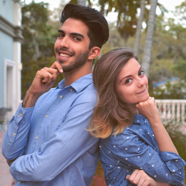 Esteban Bravo (left) and Beth David