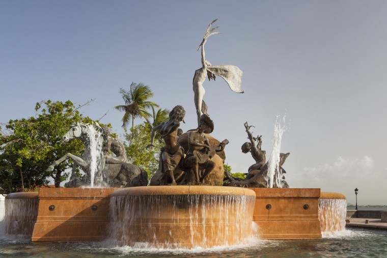 Image: Fountain, Paseo De La Princesa, in Old San Juan, Peurto Rico