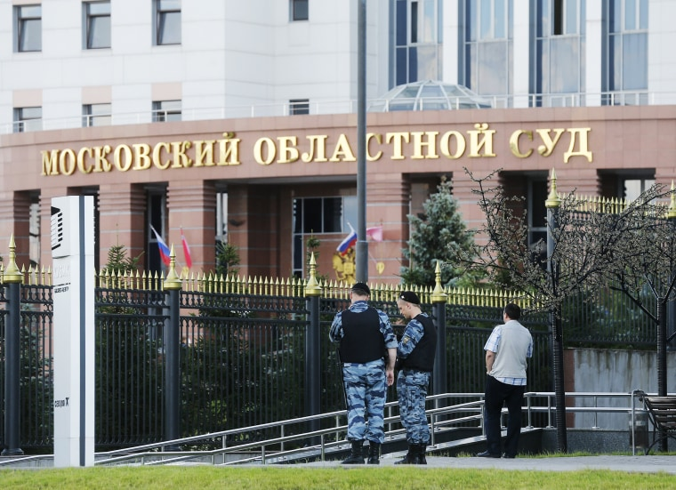 Image: Shooting at the Moscow Regional Court outside Moscow