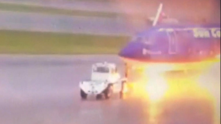 A ground worker at a Florida airport is out of the hospital after being struck by lightning on the tarmac.