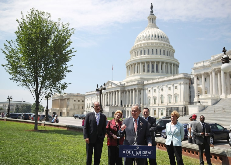 Image: Senate Democrats Unveil Their New Economic Agenda