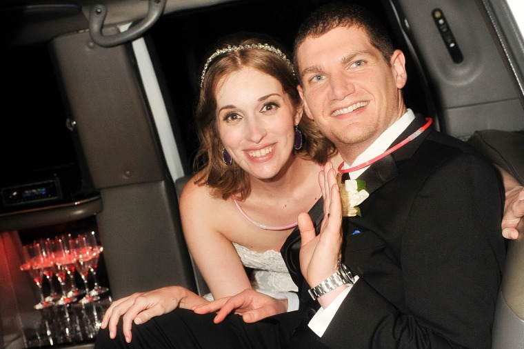 Image: Newlyweds Andrew and Neely Moldovan