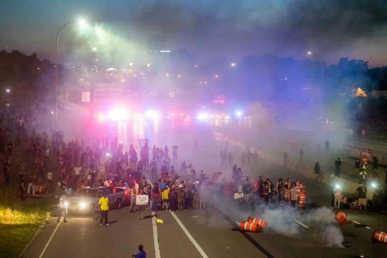 Image: Black Lives Matter Protesters in St. Paul Shut Down I-94