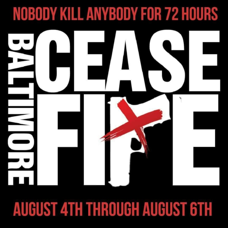 Image: Baltimore Cease Fire flyer