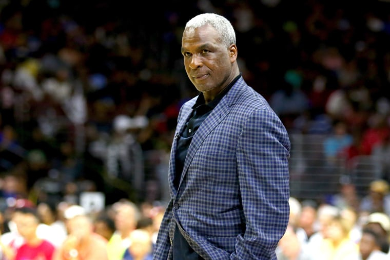 Image: Coach Charles Oakley of Killer 3s looks on in the game against the 3 Headed Monsters during week four of the BIG3 three on three basketball league at Wells Fargo Center on July 16, 2017 in Philadelphia, Pennsylvania.