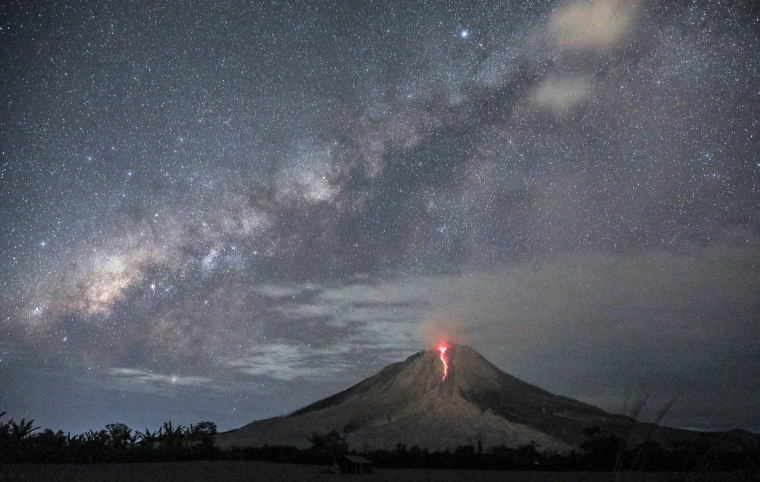 Image: Mount Sinabung erupts in Karo, Indonesia