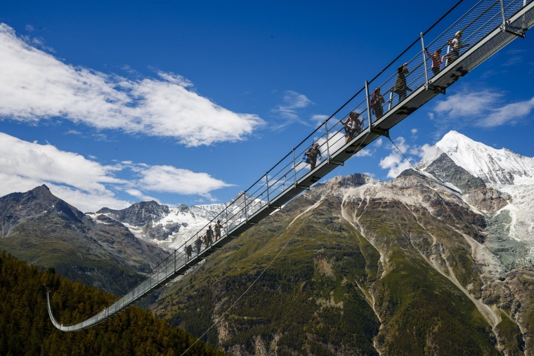 Image: World's longest pedestrian suspension bridge inaugurated