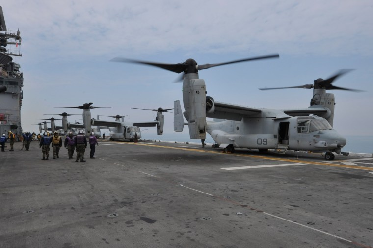 Image: MV-22 Osprey tiltrotor aircrafts