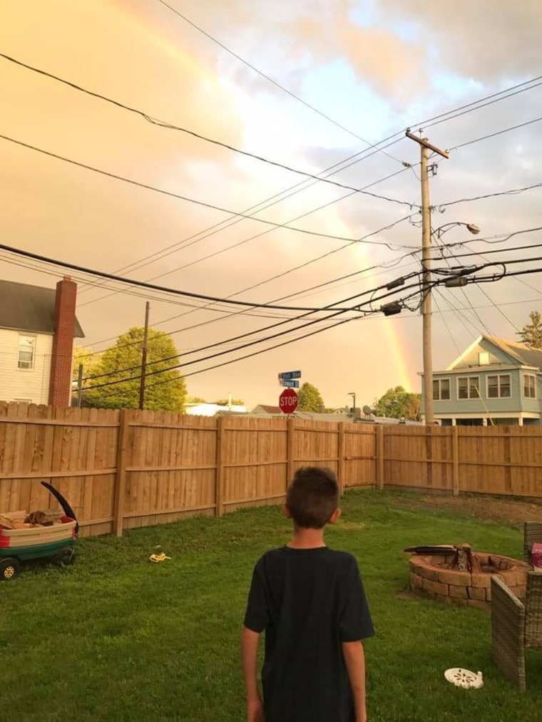 Photos of rainbows pour in from around the globe to comfort boy with autism who lost both parents