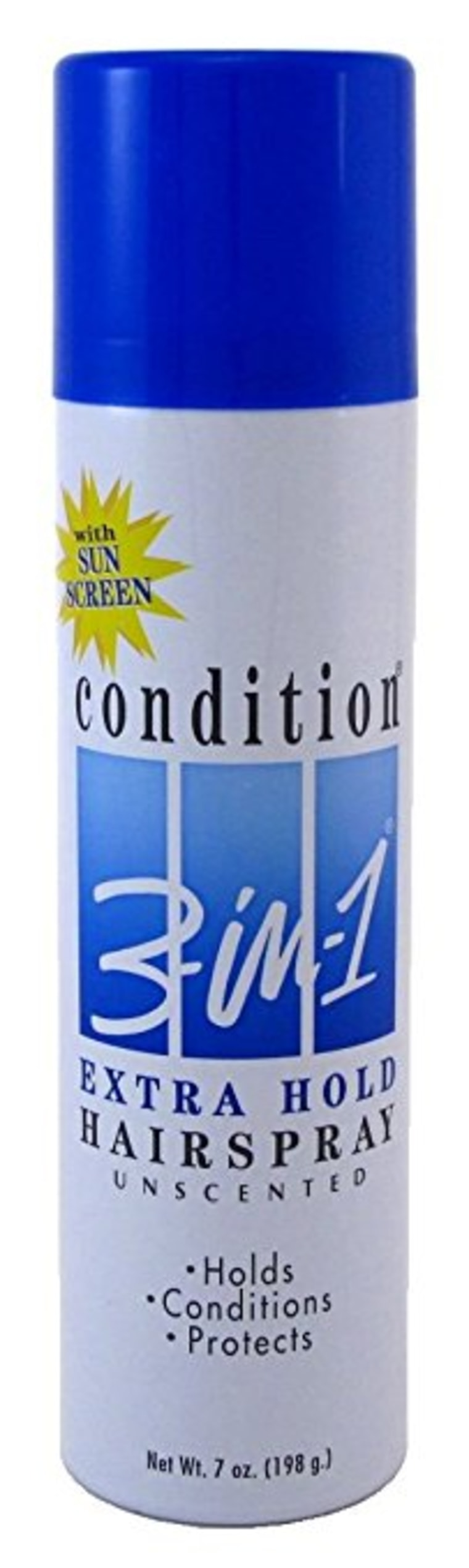 Condition 3-N-1 Aerosol Spray 7 Ounce Max Hold Unscented With Sunscreen