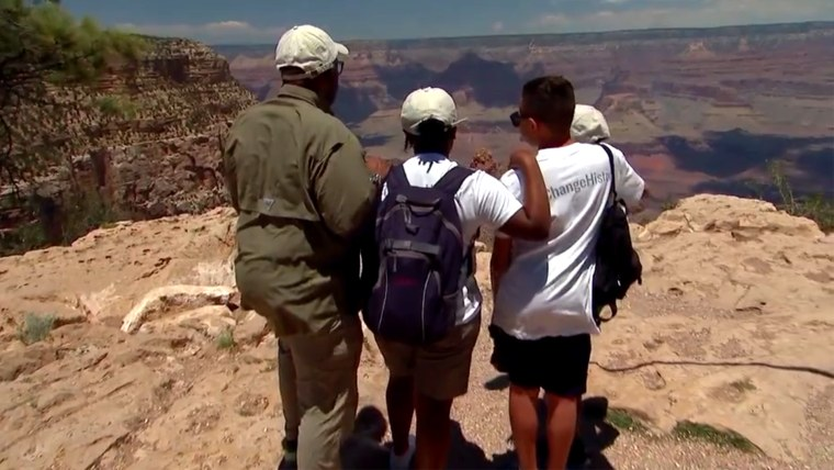 """Al Roker takes three Brooklyn middle school students to the Grand Canyon for """"Summer of Yes"""" program."""