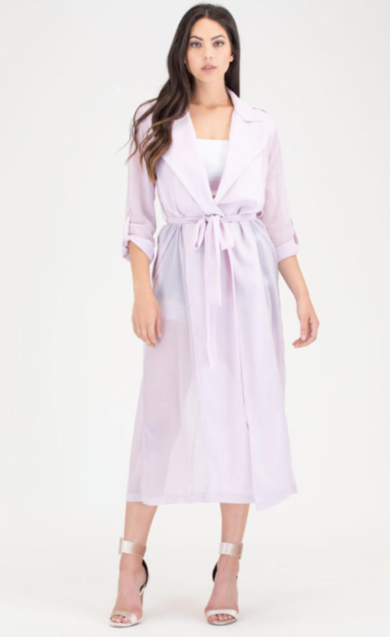 Sheer We Go Chiffon Trench Jacket
