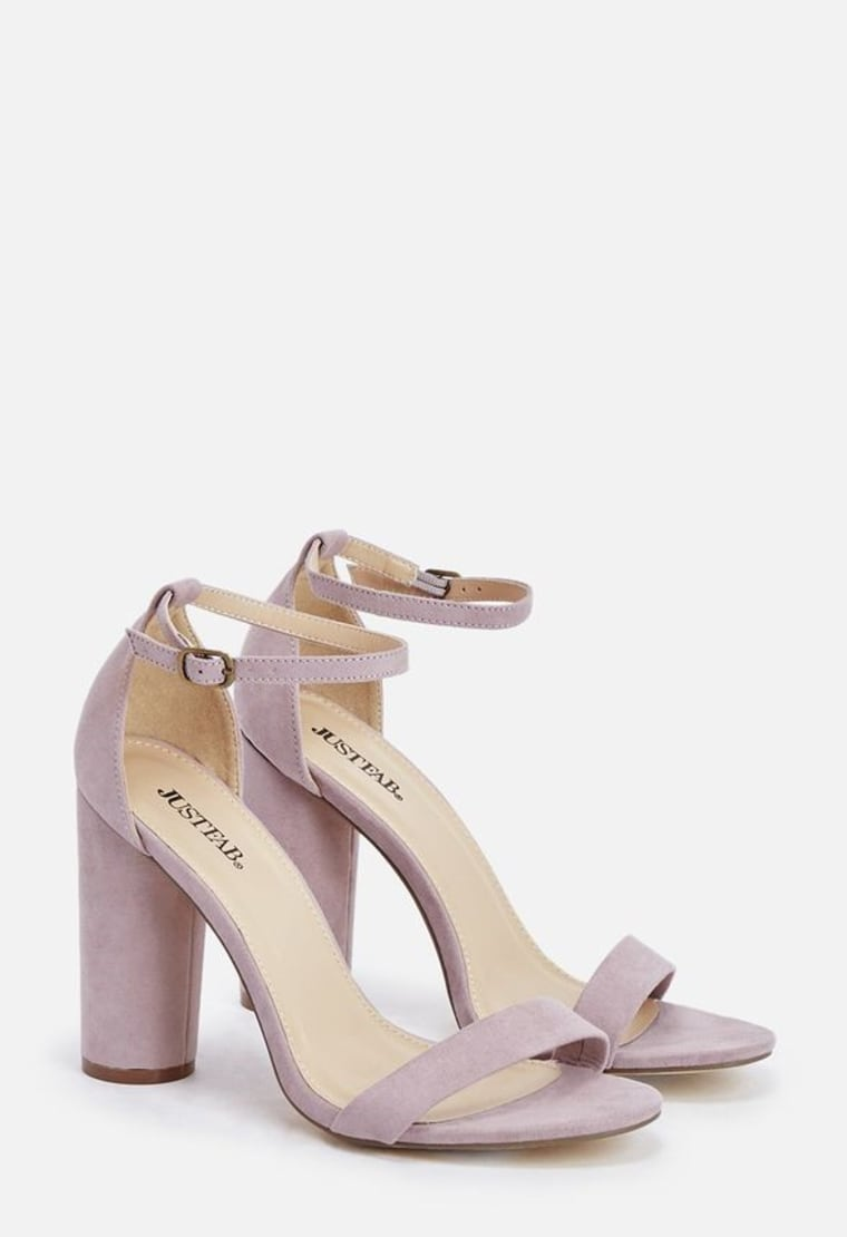 Elena Heeled Sandal in Lilac