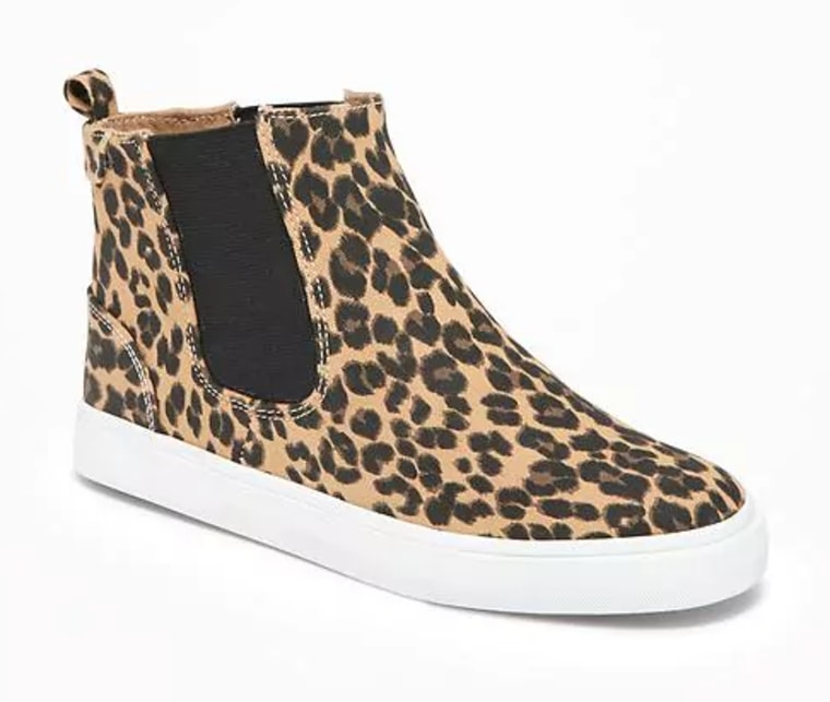 Leopard-Print Chelsea Mid-Tops for Girls