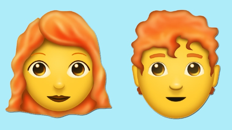 Person with red hair emoticon