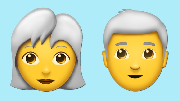 Person with white hair emoticon