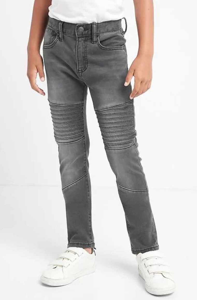 High stretch moto slouchy skinny jeans