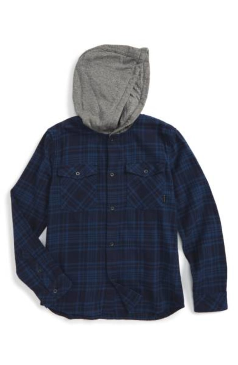 Hooded Plaid Woven Shirt QUIKSILVER