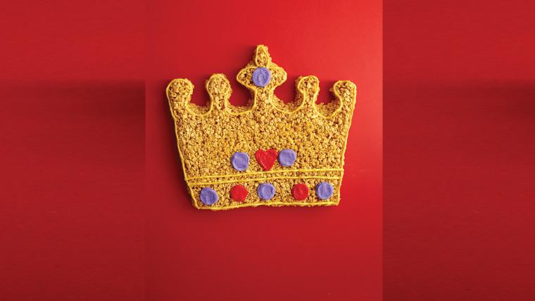 Rice Krispie treat crown