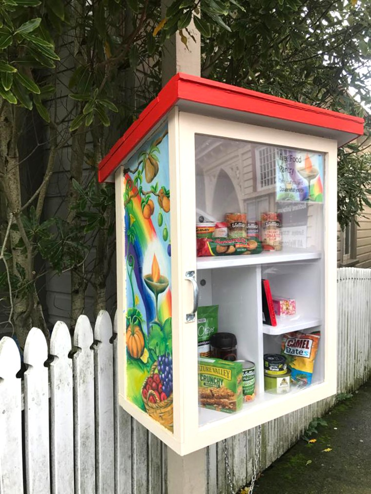 Little Free Pantries come in all shapes and sizes. High traffic pantries can carry perishables like bananas and bread.