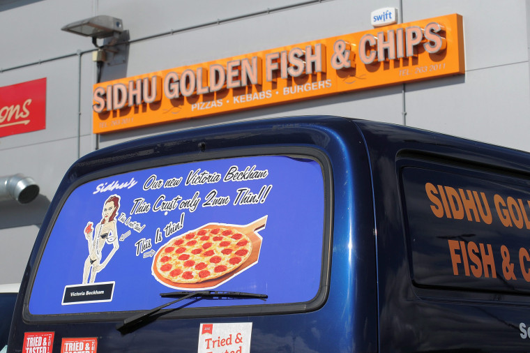 Beckham is currently seeking legal action against the fish and chips shop.