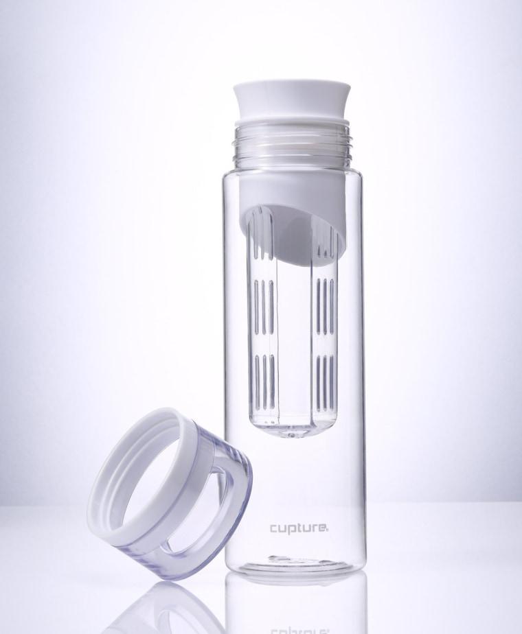 Cupture White Fruit Infuser Water Bottle - Made of unbreakable Eastman Tritan - 24 oz