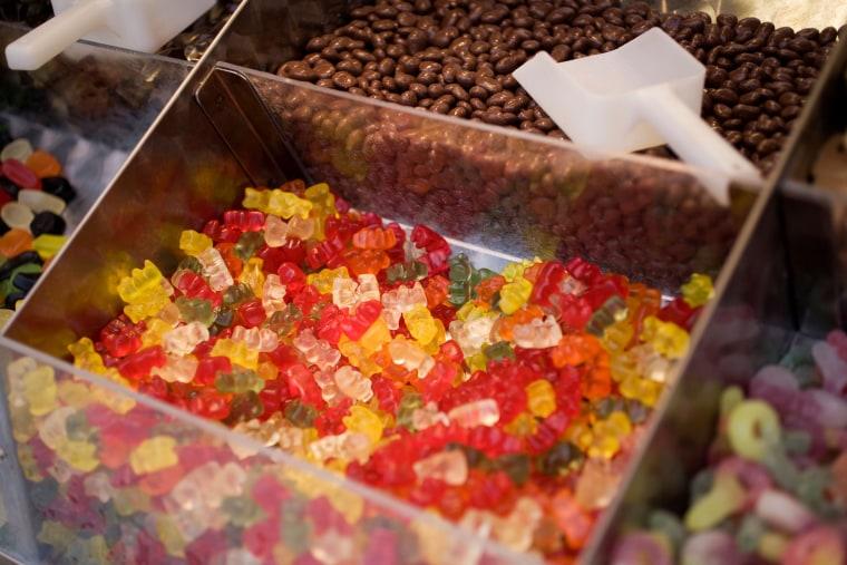 Gummy bears, snacks, candy