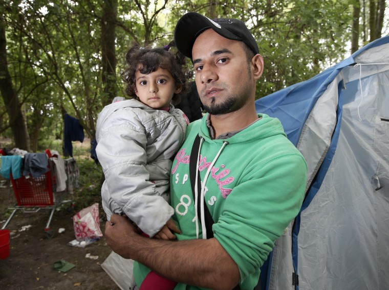 Image: Migrants in Northern France