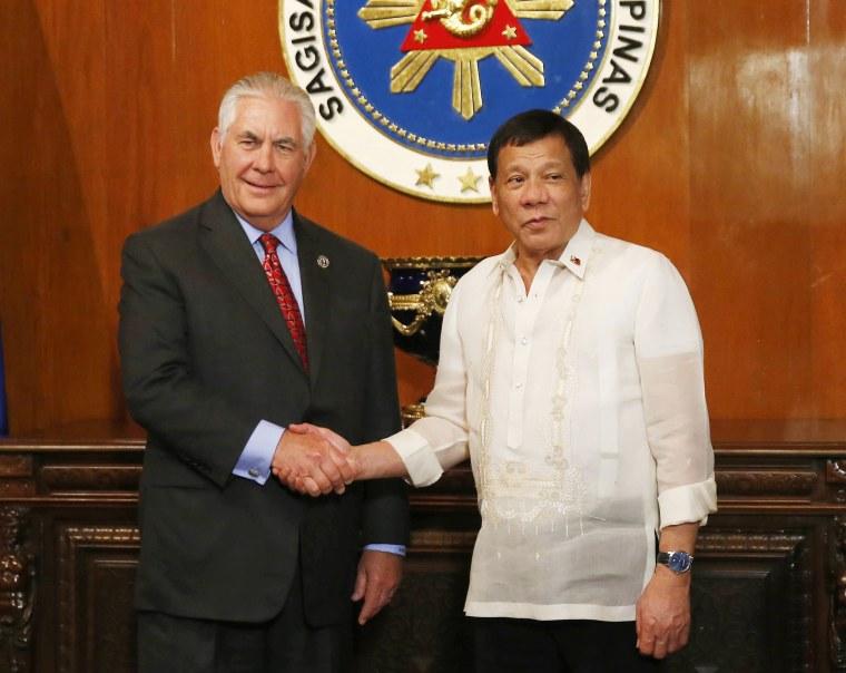 Image: Rex Tillerson, Rodrigo Duterte
