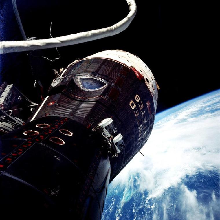 Gemini IX spacecraft as seen on June 5, 1966.
